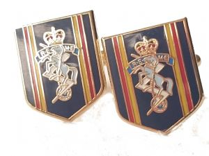 REME Royal Electrical Mechanical Engineers Cufflinks Shield
